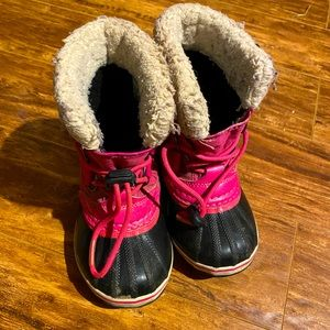Sorel Pink Girls Winter Boots